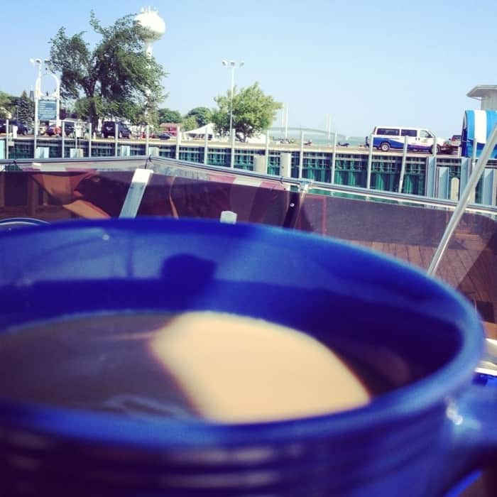 coffee from a boat