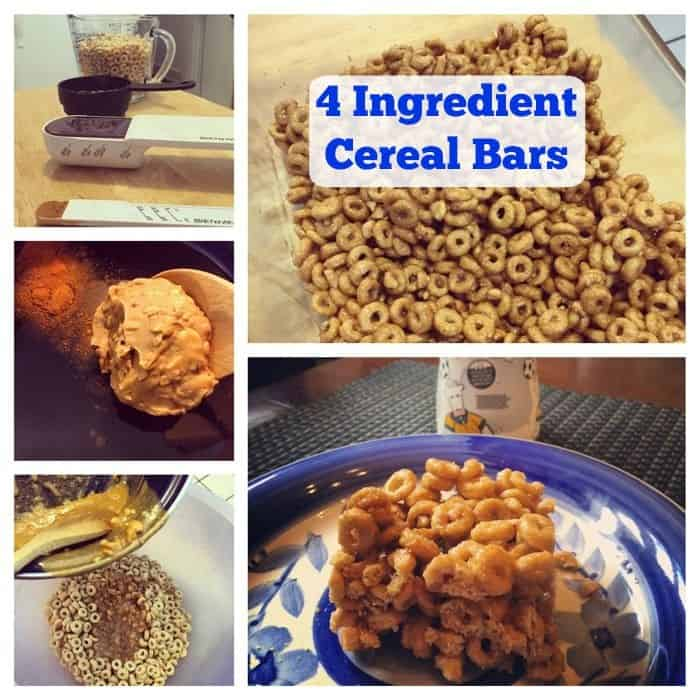 4 Ingredient Cereal Bars