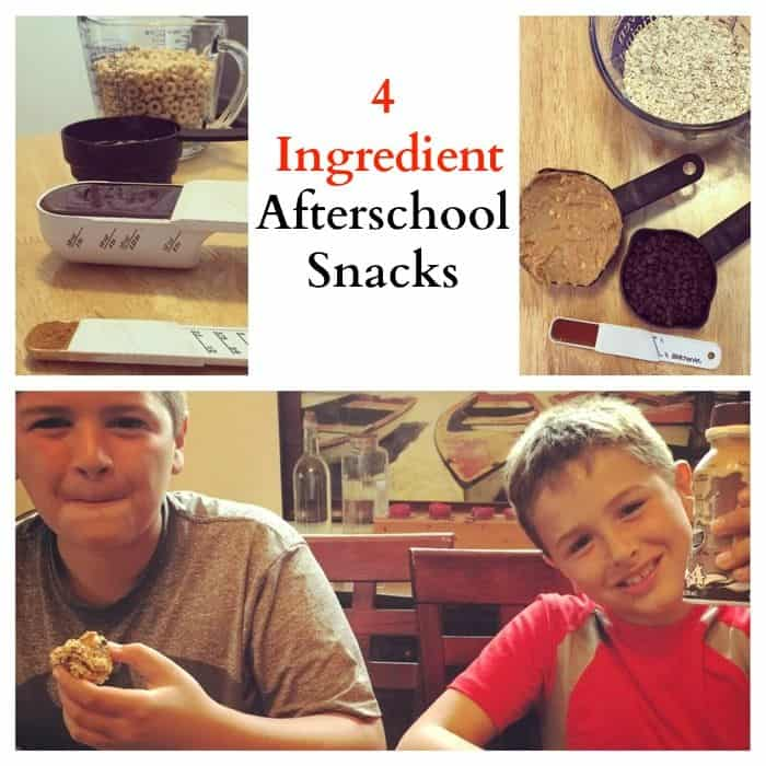 4 ingredient afterschool snacks