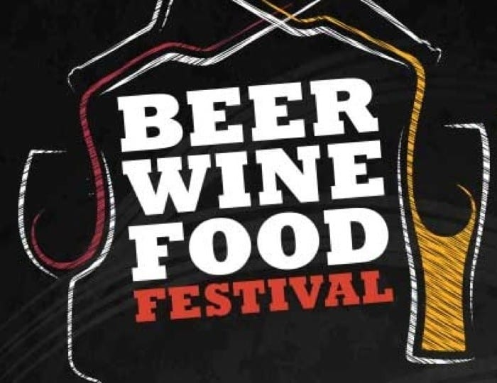 Beer Wine Food Chalk Logo