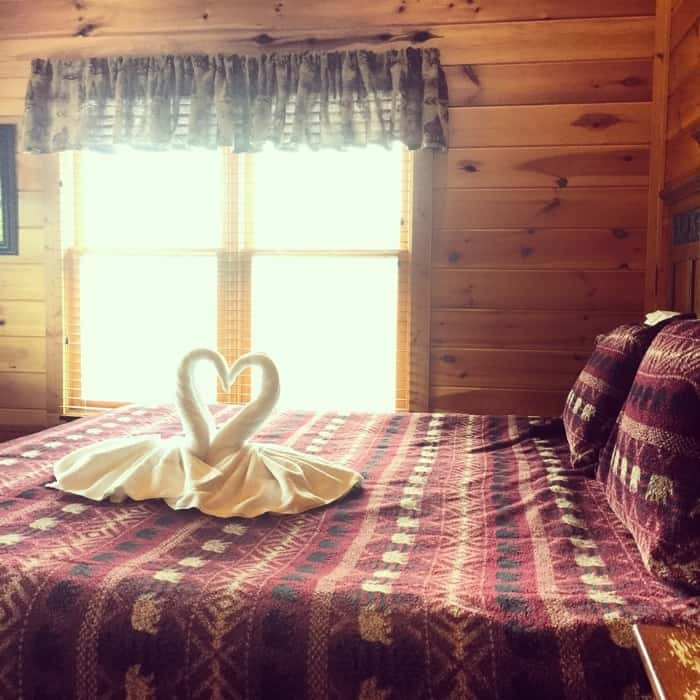 Guest bedroom at Mountain Majesty Retreat