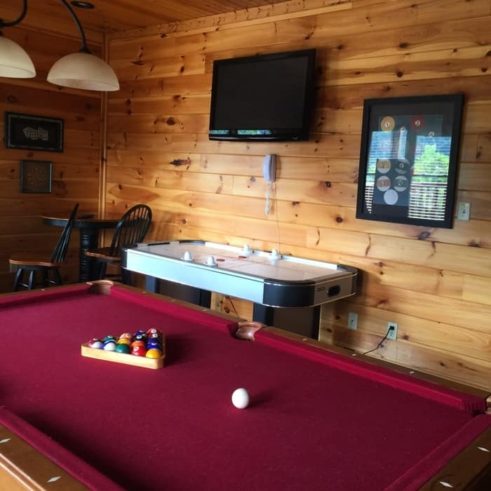Mountain Majesty Retreat Game Room