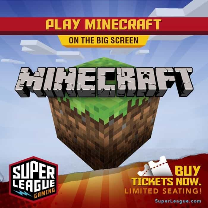 Play Minecraft at a Movie Theater with Super League Gaming