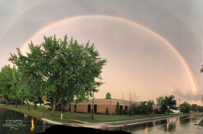 double arching rainbow