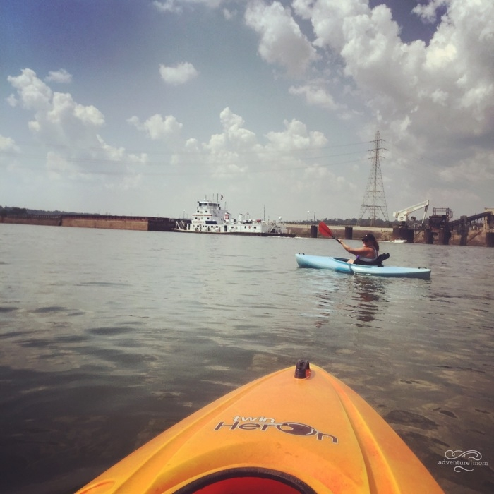 kayaking on the Ohio River