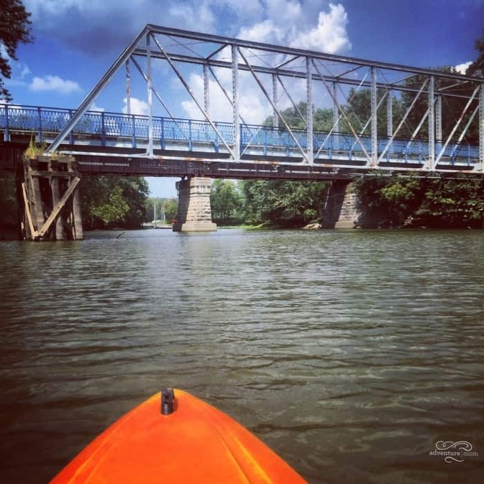 kayak on the Ohio River