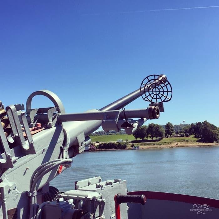 Gun on USS LST 325
