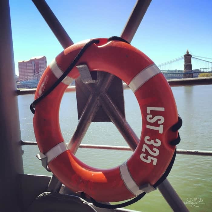 Life preserver on the USS LST 325