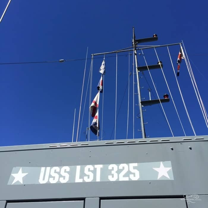 signage of USS LST 325