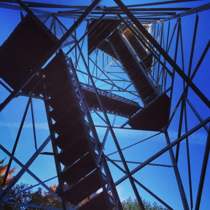 Ash Cave Fire Tower Stairs