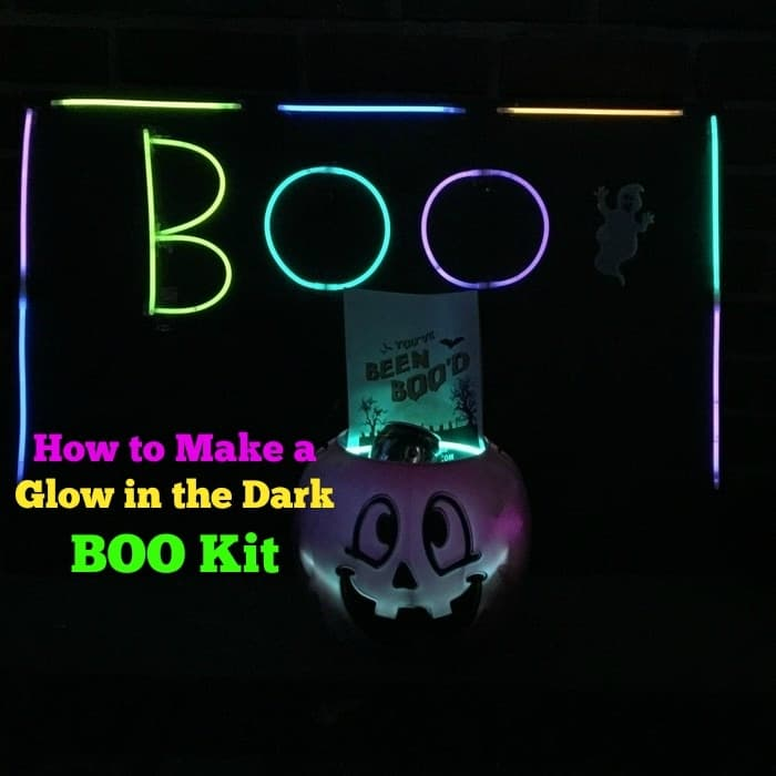 How to Make a Glow in the Dark BOO Kit
