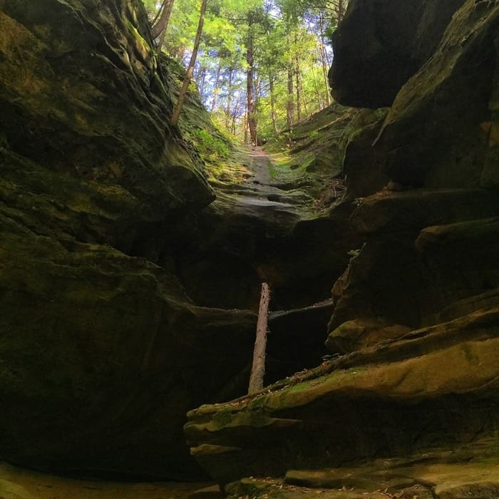 Lower trail to Conkle's Hollow in Hocking Hills, OH