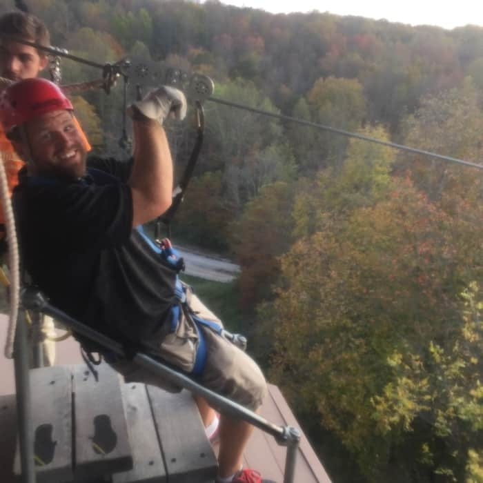 zipling at Hocking Hills Canopy