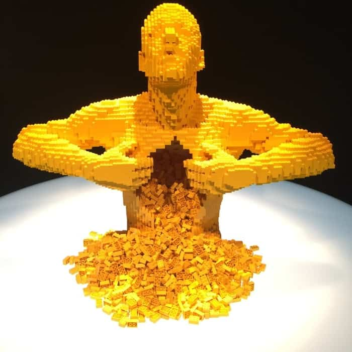 Yellow by Nathan Sawaya The Art of the Brick