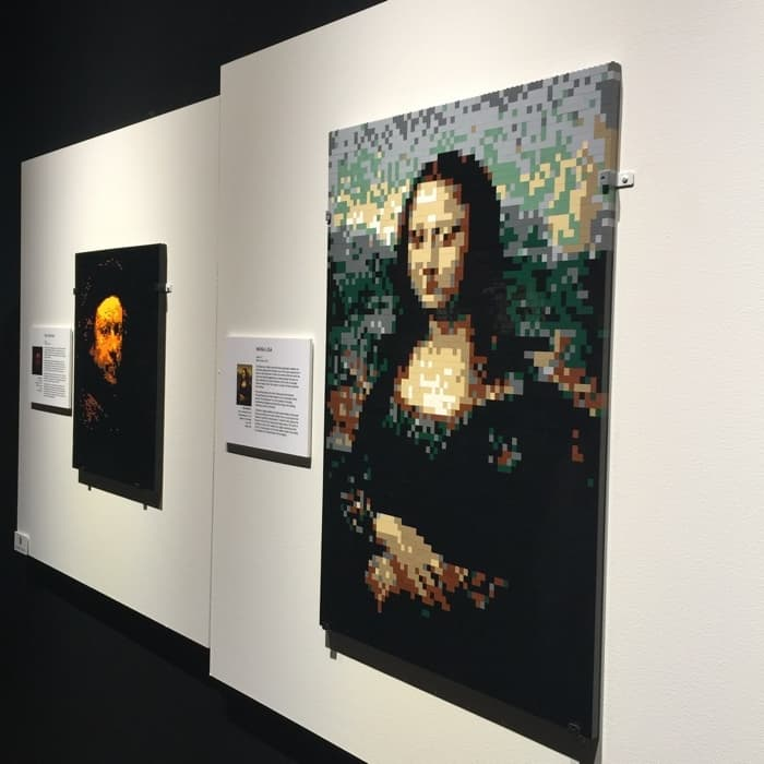 Mona Lisa by Nathan Sawaya The Art of the Brick