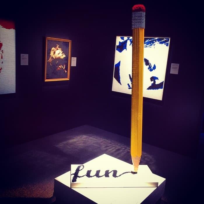 LEGO sculpture by Nathan Sawaya The Art of the Brick Exhibit