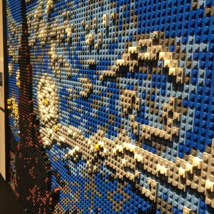 Starry Night replica by Nathan Sawaya The Art of the Brick