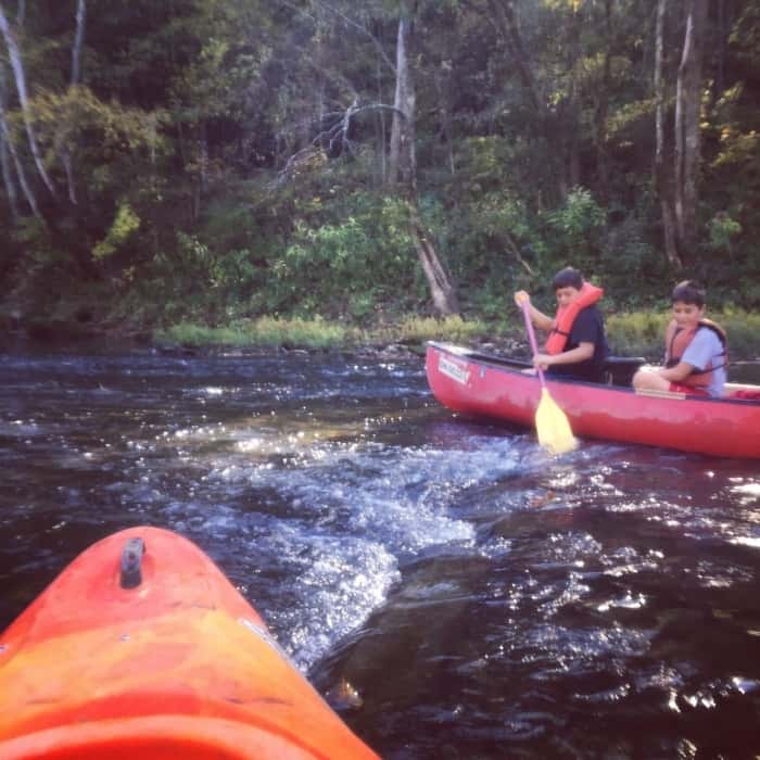 shallow water Hocking Hills Adventures
