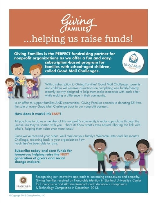 family giving challenges with giving families