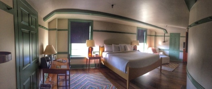 Guest room at Shaker Village