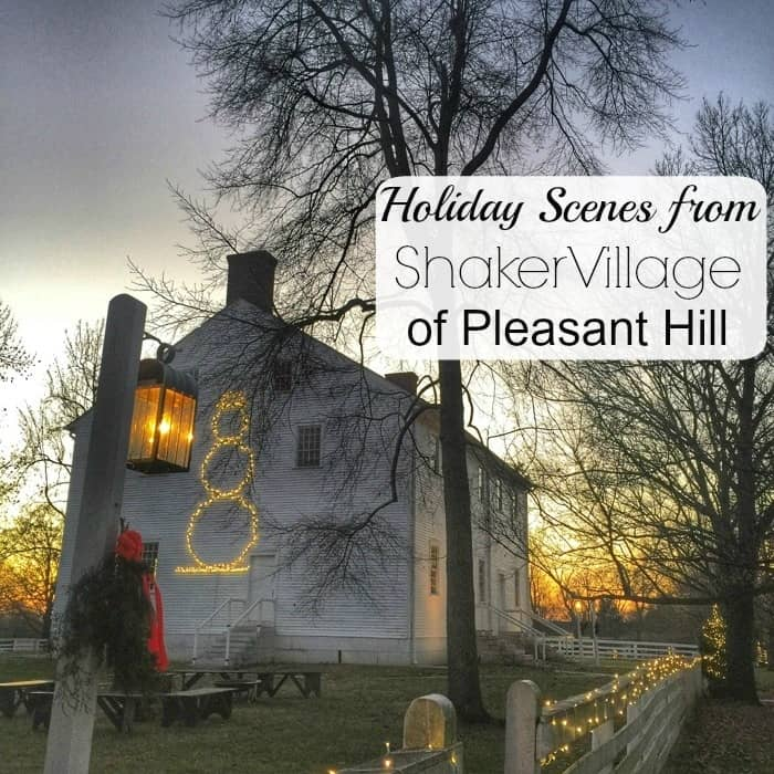 Holiday Scenes from Shaker Village of Pleasant Hill KY