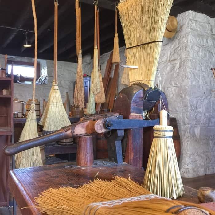 broom at Shaker Village