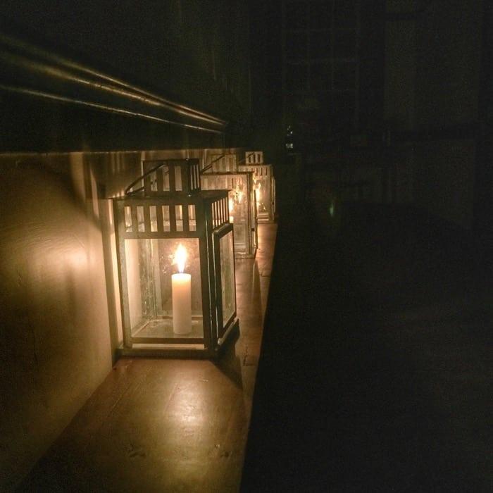 candletlight at Shaker Village