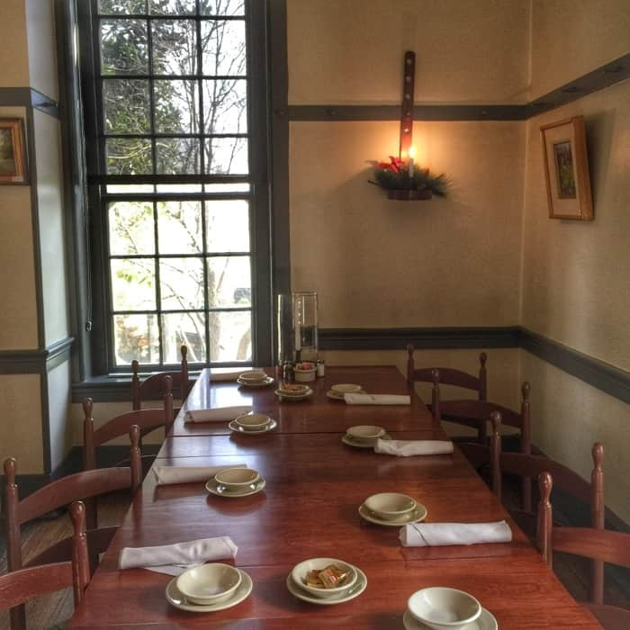 dining at Shaker Village