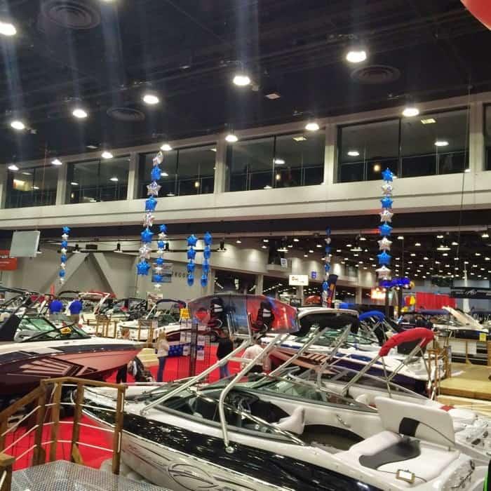 Boats at Cincinnati Travel Sports & Boat show
