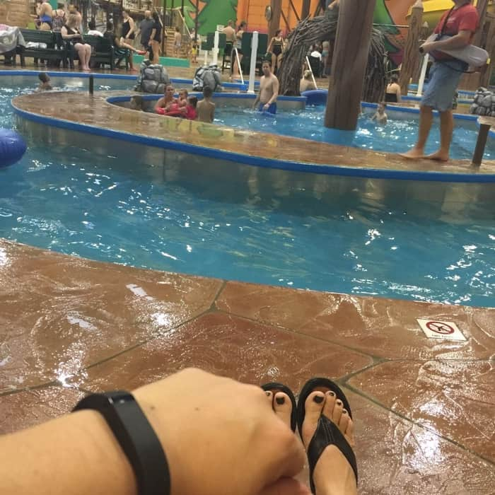 Fitbit at waterpark
