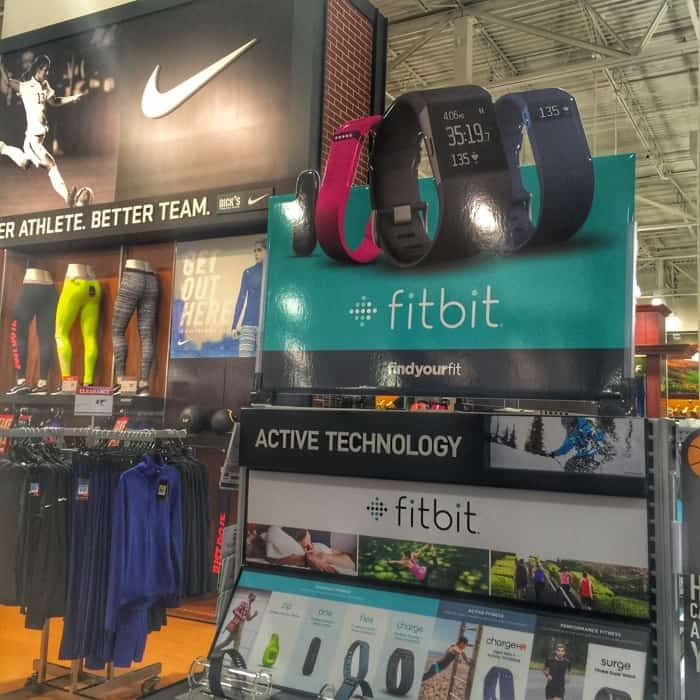 fitbit display at Dick's Sporting Goods