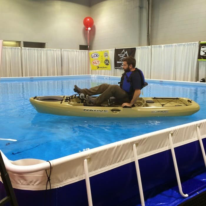 kayak demo at Cincinnati Travel Sports & Boat Show