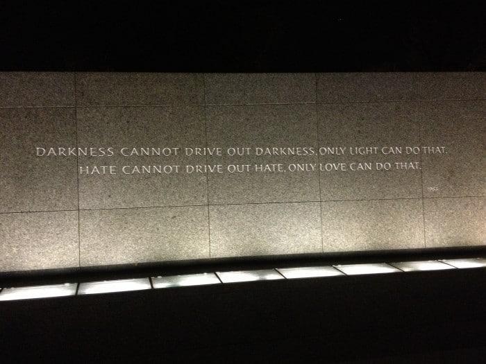 quote Martin Luther King Jr. Memorial Washington DC