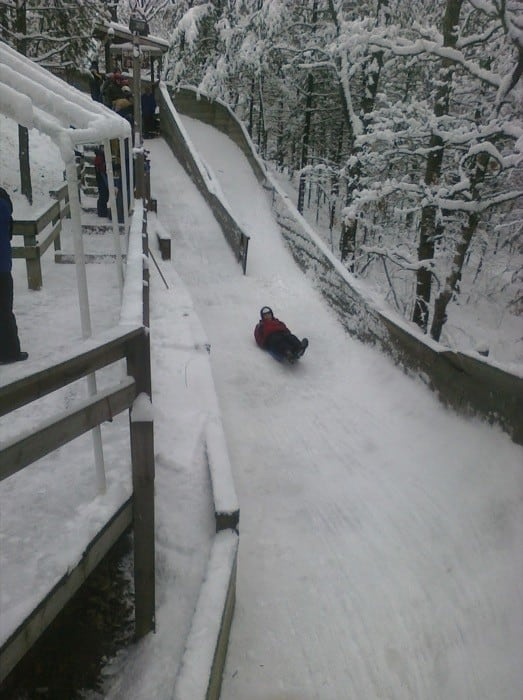 learn to luge at Muskegon Luge Adventure Sports