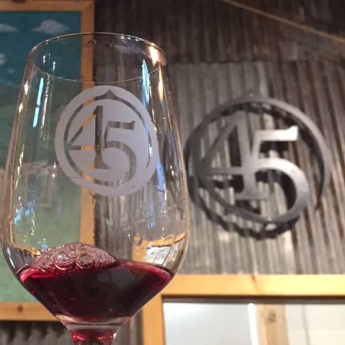 45 North Vineyard and Winery tasting