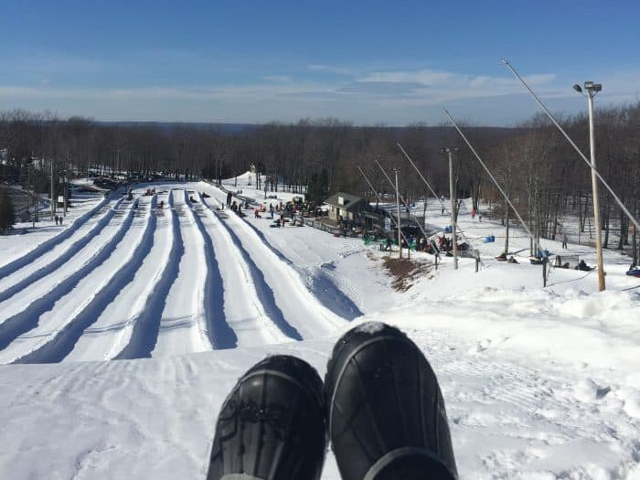 snow tubing at Jack Frost Resort