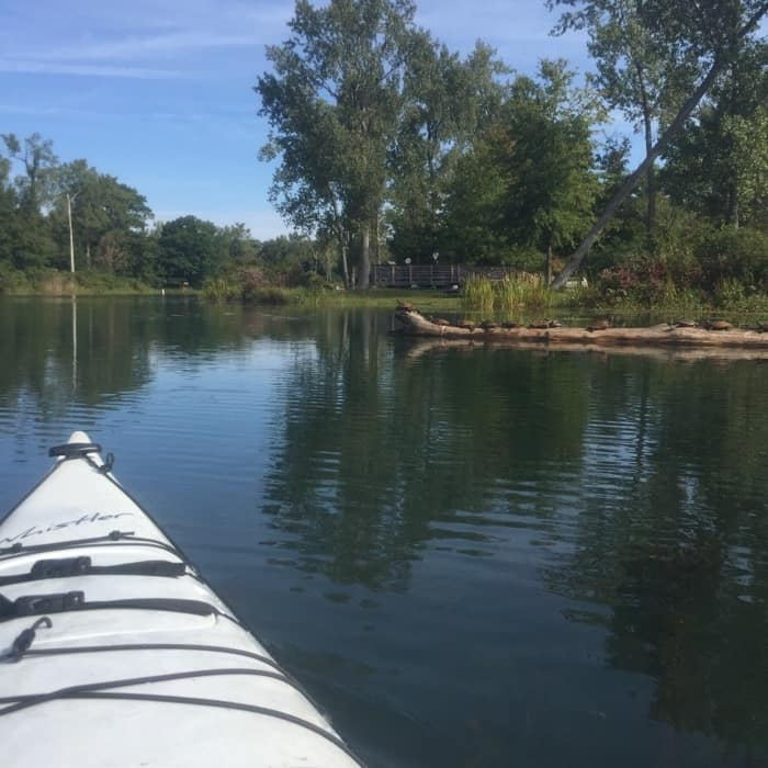 Kayaking at Presque Isle in Erie, PA