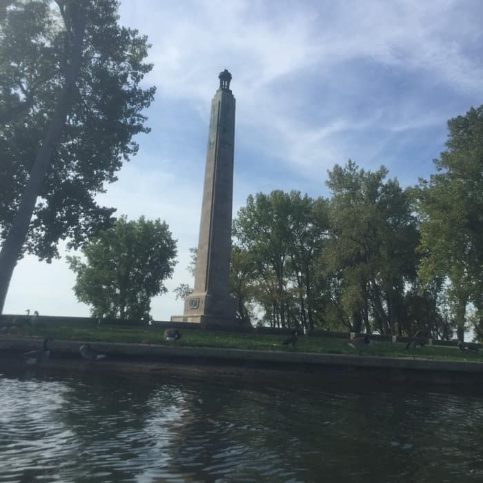 Perry Monument from Misery Bay in Erie, PA