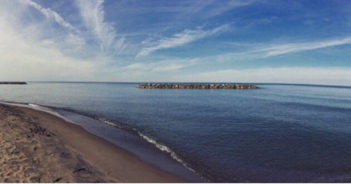 beach at Presque Isle in Erie PA