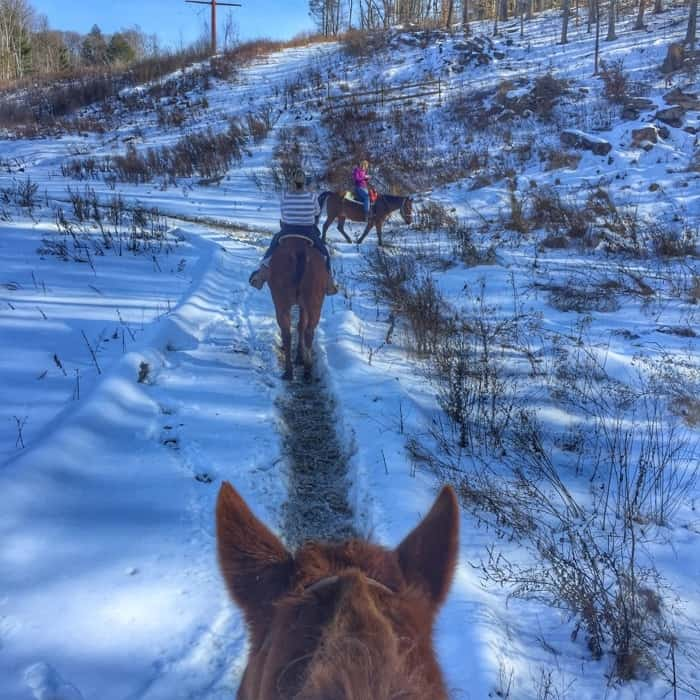 horseback riding Pocono Mountains