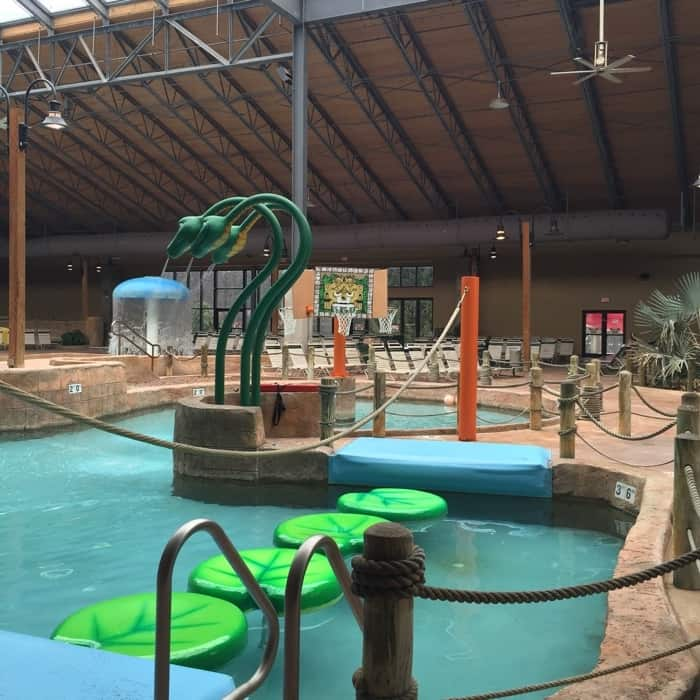 lily pads at H2Oooohh Indoor Waterpark