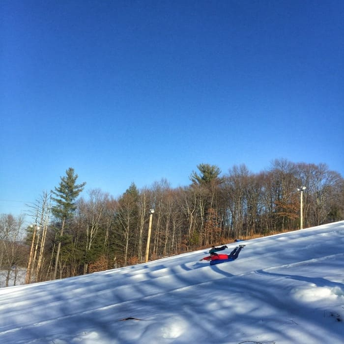snowtubing at Fernwood Resort