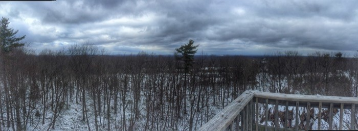 view from top of Split Rock