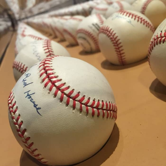 baseballs at Negro Leagues Baseball Museum