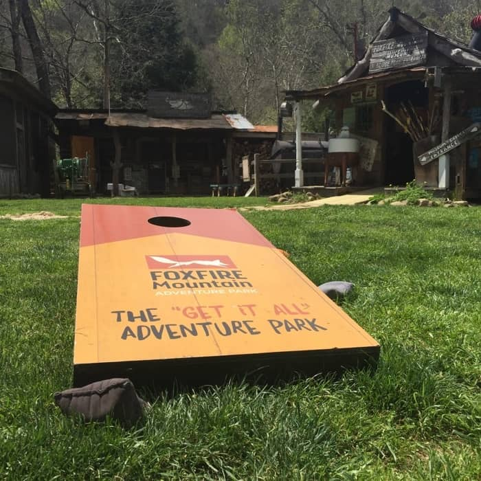 Foxfire Mountain Adventure Park cornhole