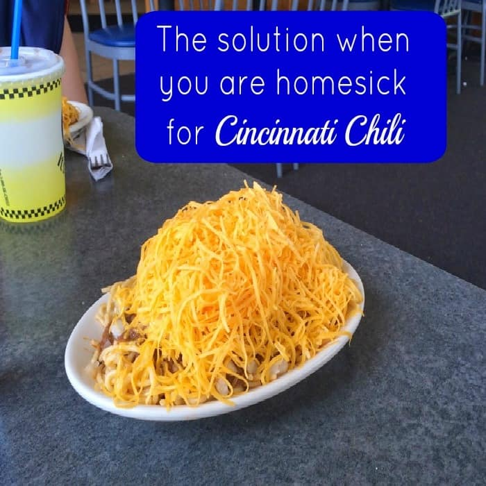 The solution when you are homesick for Cincinnati Chili