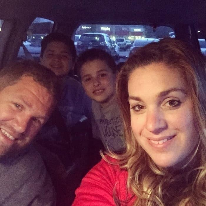 family in van