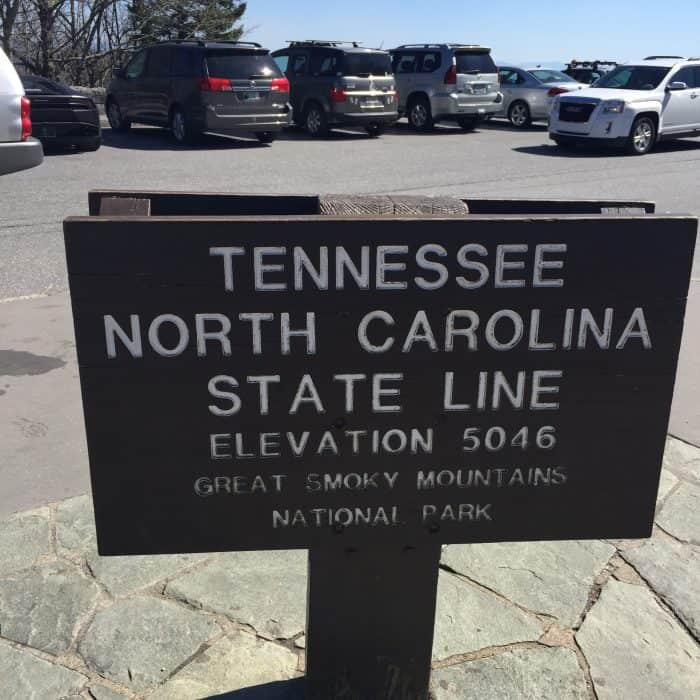 Border of Tennessee and North Carolina