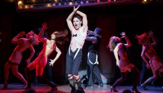Cabaret Providence Performing Arts Center  CABARET Book by Music by Joe Masteroff John Kander Based on the play by JOHN VAN DRUTEN and stories by CHRISTOPHER ISHERWOOD starring Randy Harrison Andrea Goss Shannon Cochran Alison Ewing Mark Nelson Ned Noyes Kelsey Beckert Sarah Bishop Margaret Dudasik Hillary Ekwall Lori Eure Andrew Hubacher Set Design by Robert Brill Orchestrations Michael Gibson Hair & Wig Design Paul Huntley Technical Supervisor Larry Morley Associate Managing Director Steve Dow Executive Producer Sydney Beers Lee Aaron Rosen Aisling Halpin Leeds Hill Joey Khoury Tommy McDowell Evan D. Siegel Dani Spieler Steven Wenslawski Musical Supervisor/Vocal Arrangements Patrick Vaccariello Associate Choreographer & Choreography Recreated by Cynthia Onrubia Directed by BT McNicholl Originally Co-Directed & Choreographed by Rob Marshall Originally Directed by Sam Mendes Costume Design by William Ivey Long Dance & Incidental Music David Krane Casting Jim Carnahan, C.S.A. Jillian Cimini, C.S.A. Tour Booking Agency The Booking Group Meredith Blair Director of Marketing & Audience Development Robert Sweibel General Manager Richards/Climan, Inc. Lighting Design by Peggy Eisenhauer Mike Baldassari Music Director Robert Cookman Production Stage Manager John M. Atherlay Press & Marketing Direction Type A Marketing Director of Development Lynne Gugenheim Gregory Sound Design by Keith Caggiano Based on the Original Broadway design by Brian Ronan *Generously underwritten by Margot Adams, in memory of Mason Adams Roundabout Theatre Company is a member of the Broadway League and League of Resident Theatres. RoundaboutTheatre.org National Tour Launch: January 26 - 31, 2016 Lyrics by Fred Ebb Founding Director Gene Feist Adams Associate Artistic Director* Scott Ellis  Emcee.............................................................................................................................. RANDY HARRISON The Kit Kat Girls: Rosie .......................................