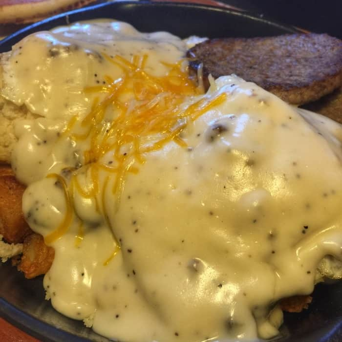 Flapjack's pancake cabin biscuits and gravy